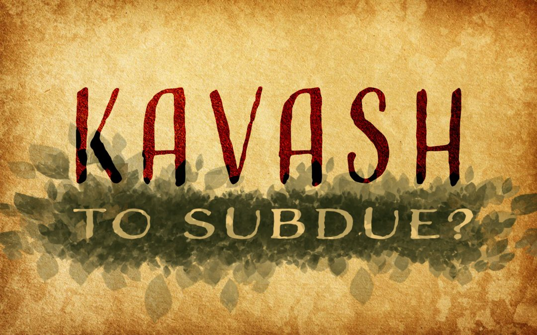 To Subdue & Rule Well: Subdue?