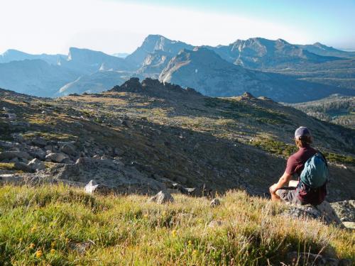 Enjoying the awesome mountain views